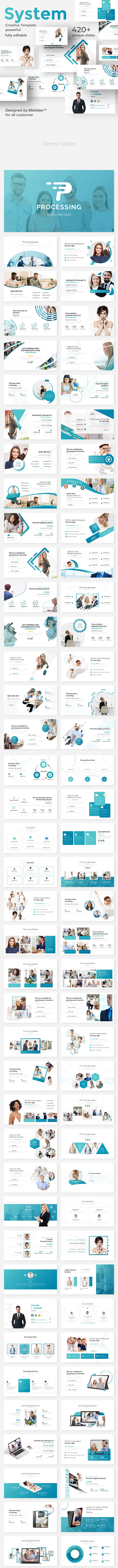 Processing System Powerpoint Pitch Deck Template - Business PowerPoint Templates