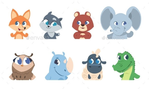 Cartoon Pet and Wild Forest - Animals Characters
