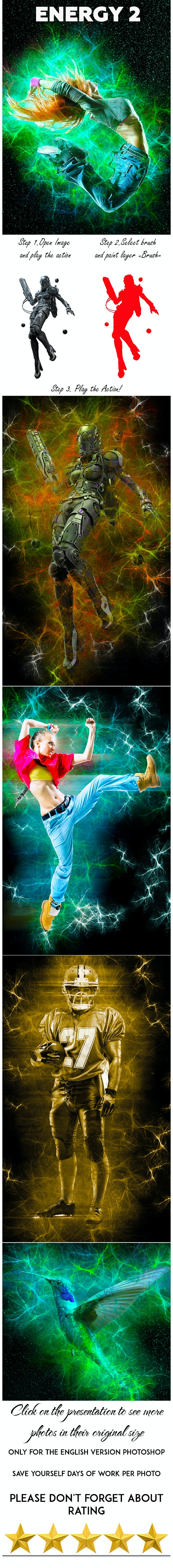 Energy 2 Photoshop Action - Photo Effects Actions