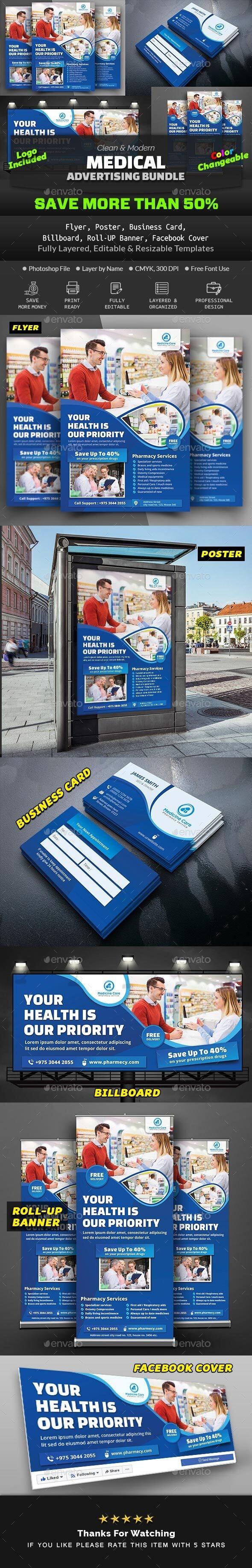 Pharmacy Advertising Bundle - Print Templates