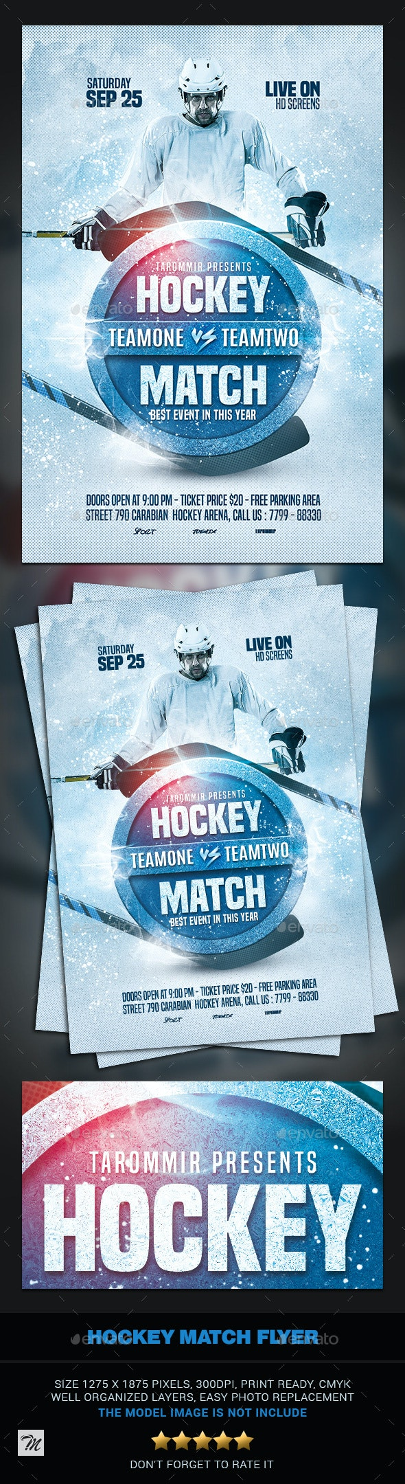 Hockey Match Flyer - Sports Events