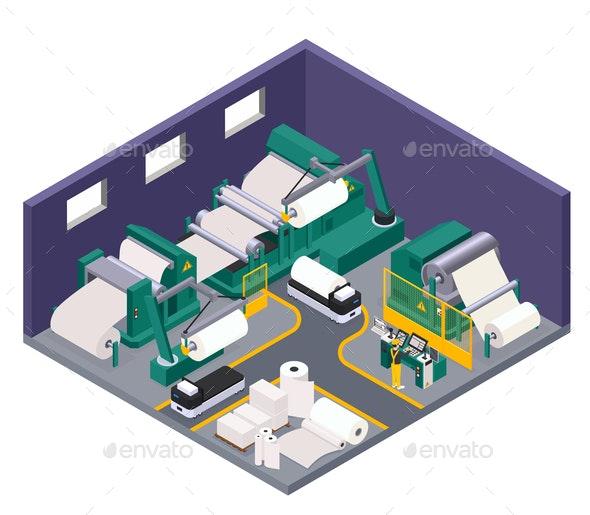 Paper Production Concept - Industries Business