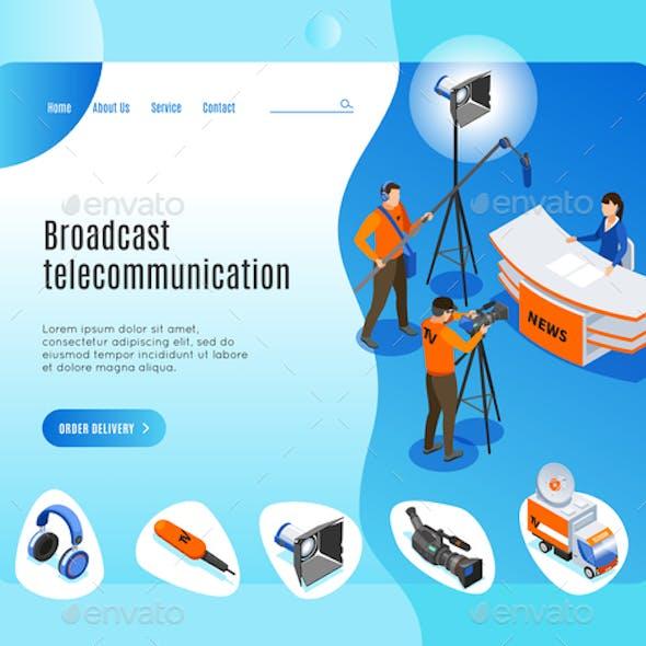 Broadcast Telecommunication Landing Page