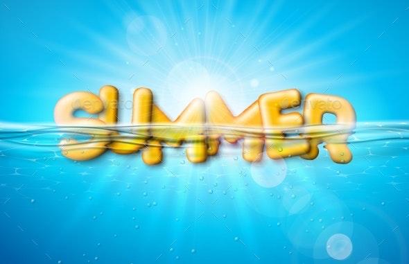 Vector Summer Illustration - Seasons Nature