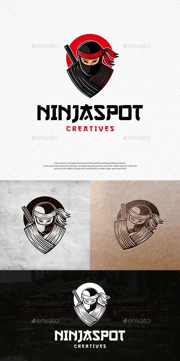 Ninja Spot Logo Template - Humans Logo Templates