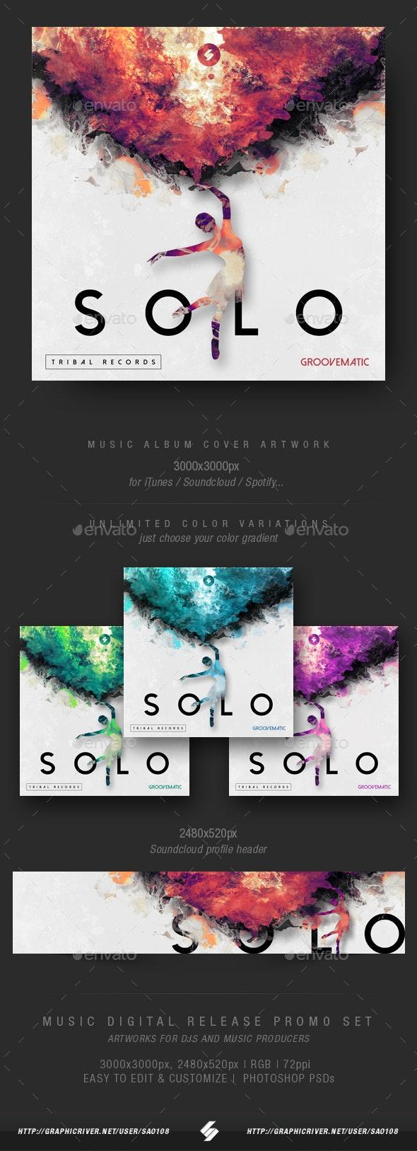 Solo - Music Album Cover Artwork Template - Miscellaneous Social Media