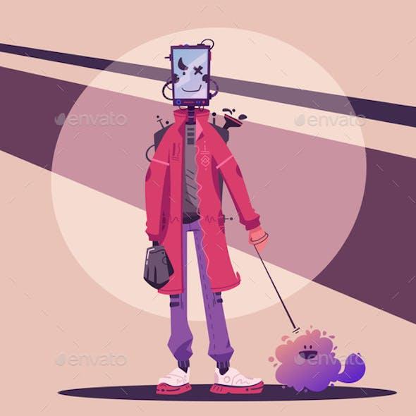 Cyborg Character Design