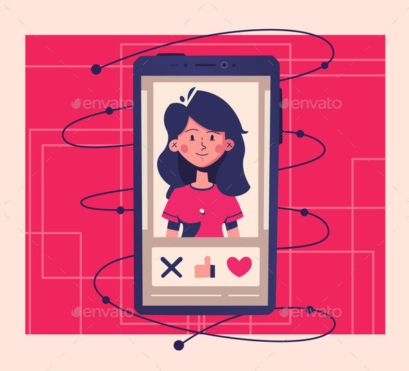 Dating Application Concept - Communications Technology
