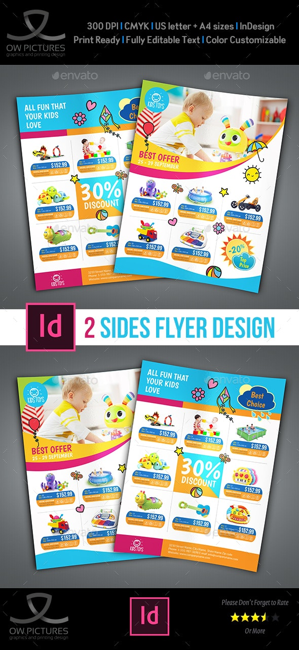 Toys Products Flyer Catalog Template - Flyers Print Templates