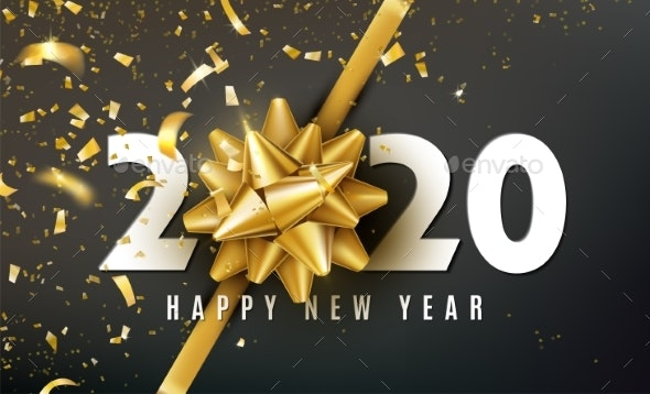 2020 Happy New Year Vector Background - New Year Seasons/Holidays