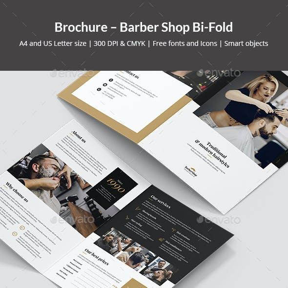 Brochure – Barber Shop Bi-Fold