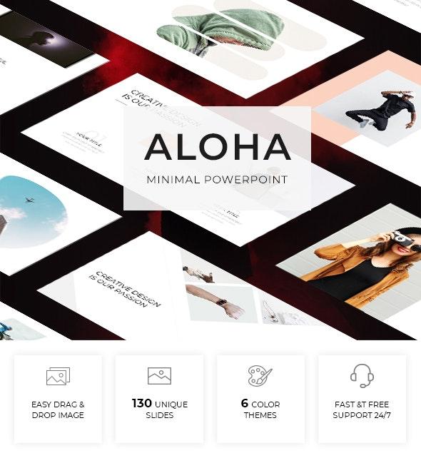 Aloha - Minimal Powerpoint Template - Creative PowerPoint Templates