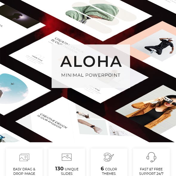 Aloha - Minimal Powerpoint Template