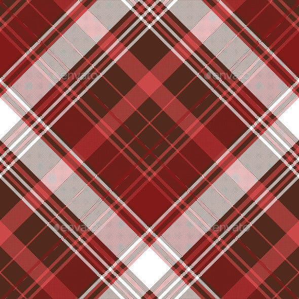 Red Check Plaid Textile Seamless Pattern