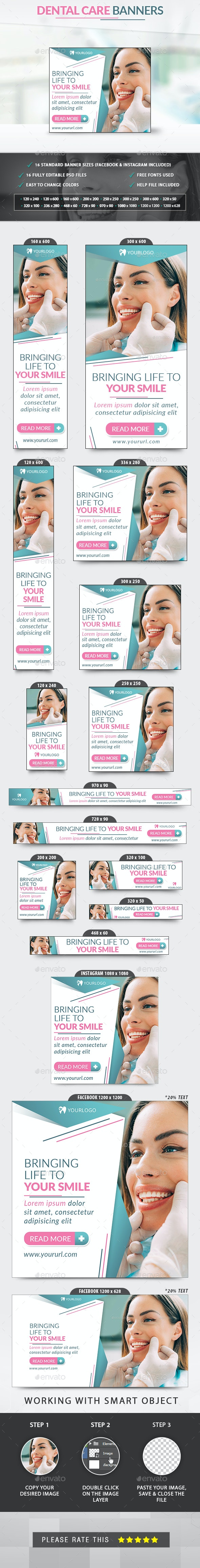 Dental Banners - Banners & Ads Web Elements