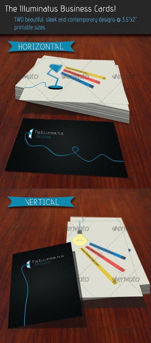 Illuminatus Business Cards - Creative Business Cards