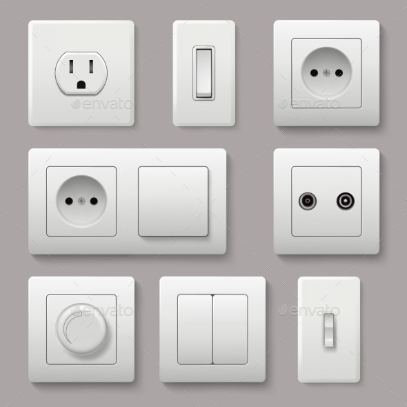 Wall Switch. Power Electrical Socket Electricity - Man-made Objects Objects