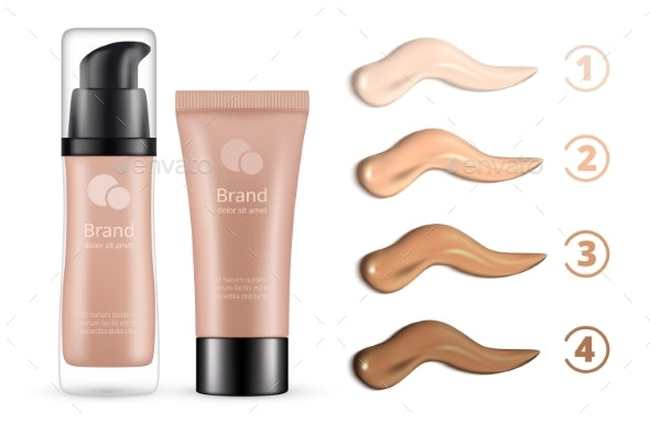 Concealer Range of Colors Smears - Man-made Objects Objects