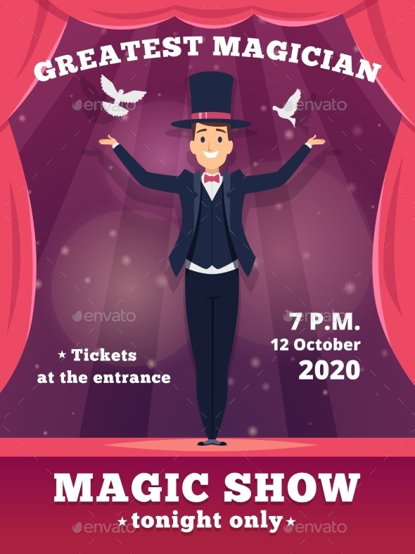 Magic Poster Invitation - People Characters