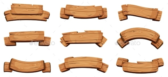 Wooden Banners - Man-made Objects Objects