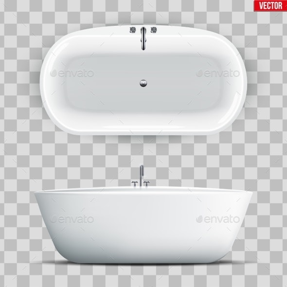 Modern Bath Set Isolated - Man-made Objects Objects