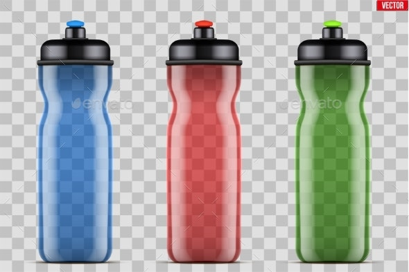 Mock-up Plastic Sport Nutrition Drink Bottle - Sports/Activity Conceptual