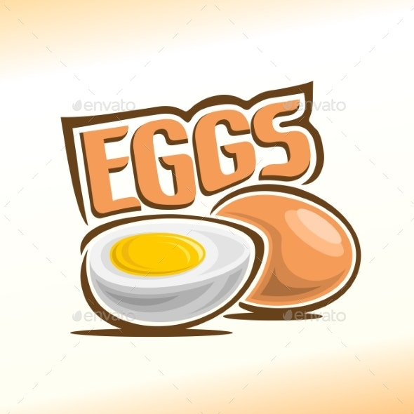 Vector Logo for Chicken Eggs - Food Objects