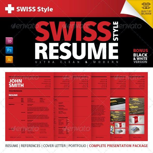 Swiss Style Clean Modern Resume/CV