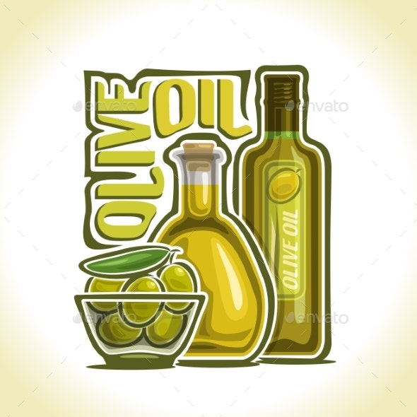 Vector Olive Oil - Food Objects
