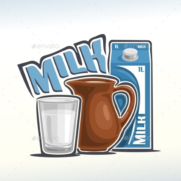 Vector Milk - Food Objects