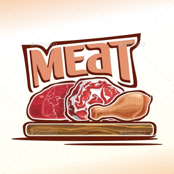 Vector Meat - Food Objects