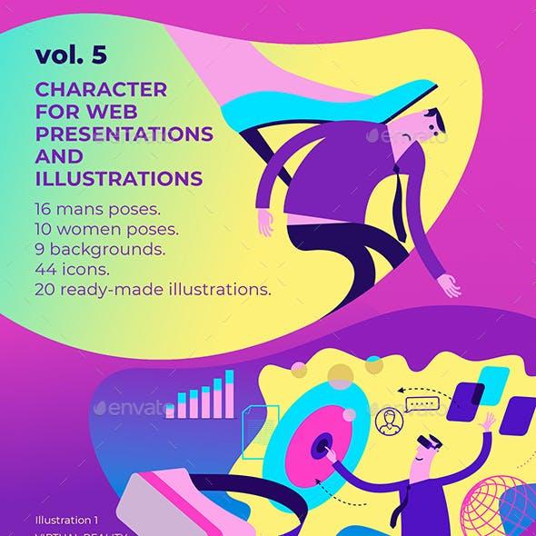 20 Character Illustrations for Presentation