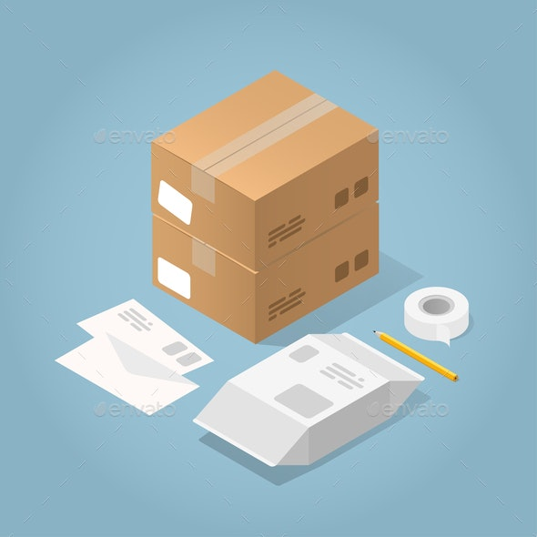 Isometric Delivery Vector Illustration - Miscellaneous Vectors