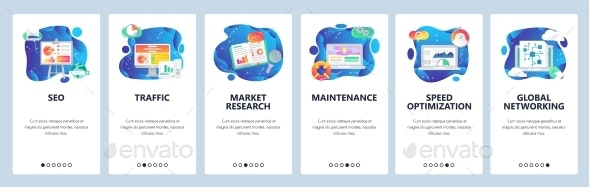 Mobile App Onboarding Screens SEO and Digital Marketing - Web Technology