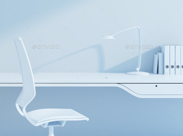 Work Place in the Modern Office - Architecture 3D Renders