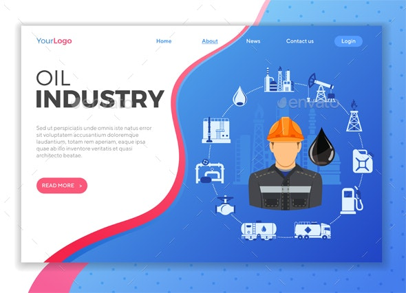 Oil Industry Concept - Industries Business