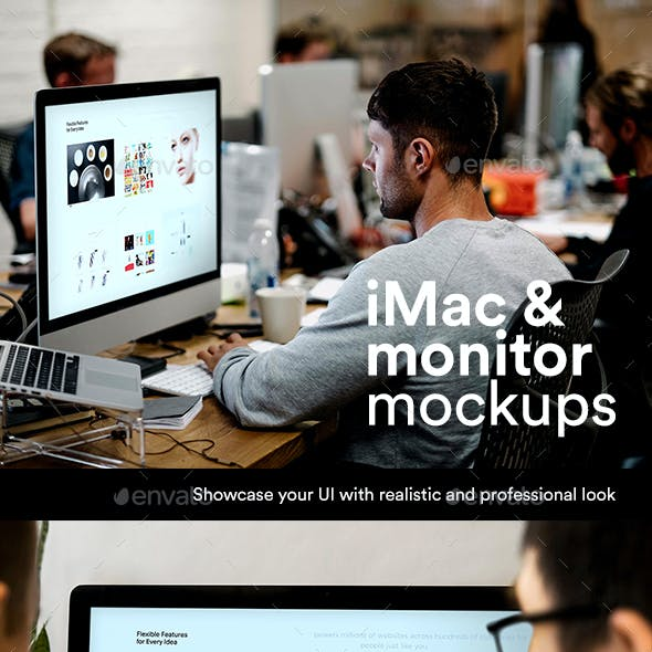 Desktop Display Mockup Psd