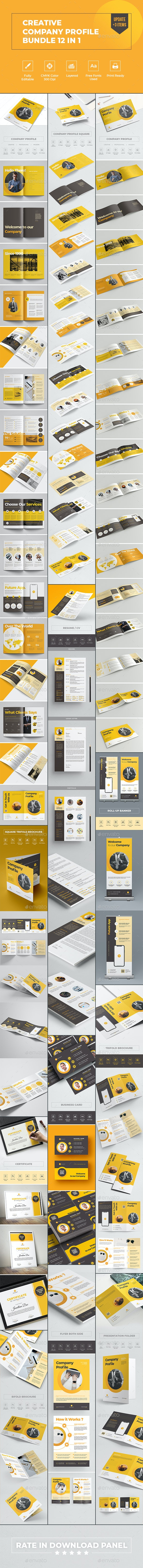 Creative Company Profile Bundle 12 in 1 - Corporate Brochures