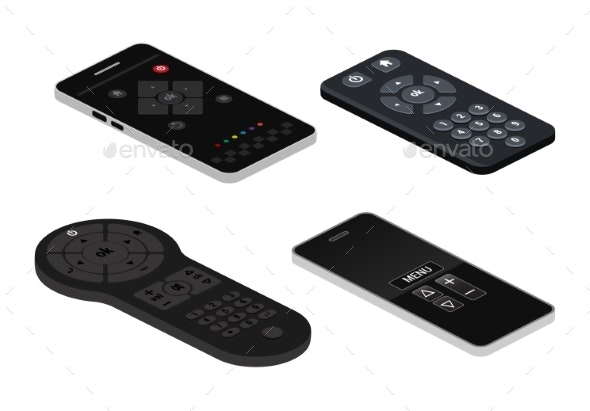 Remote Control Vector Remote Controller - Man-made Objects Objects