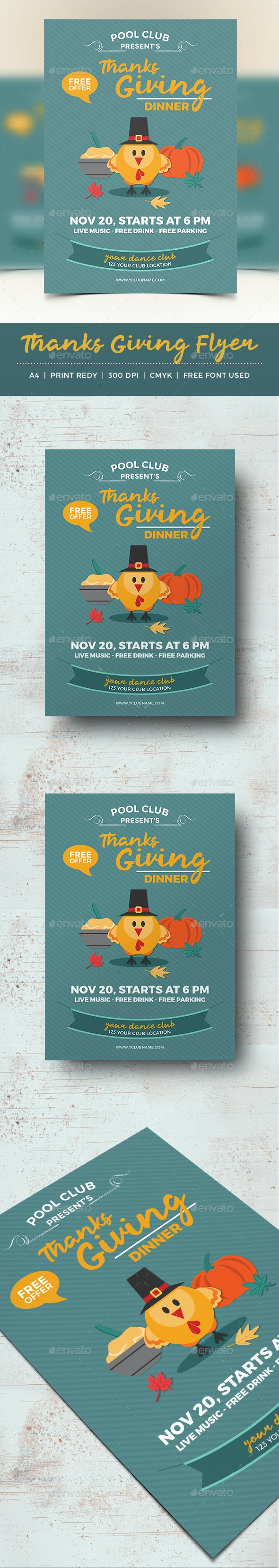 Thanksgiving Flyer Template - Holidays Events
