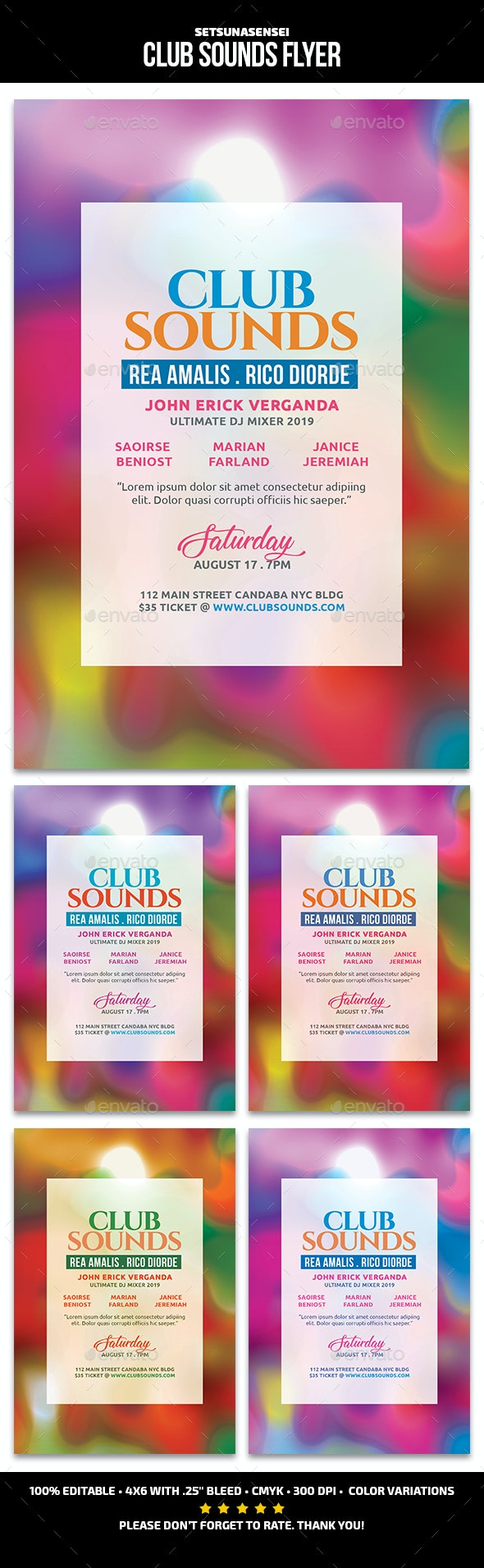 Club Sounds Flyer - Events Flyers