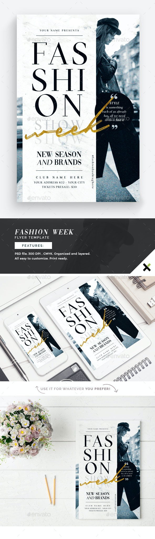 Fashion Week Flyer Template - Flyers Print Templates