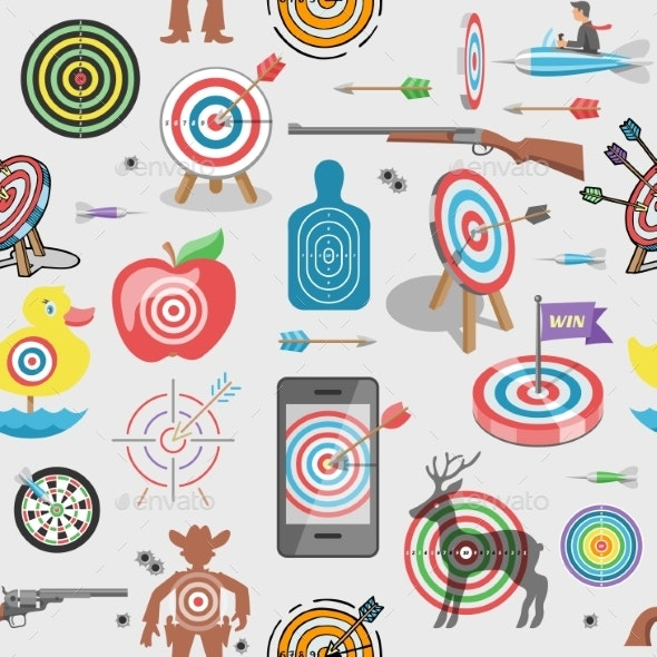 Target Icon Vector - Backgrounds Decorative
