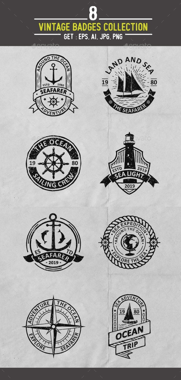 Ocean Badges Collection - Miscellaneous Characters
