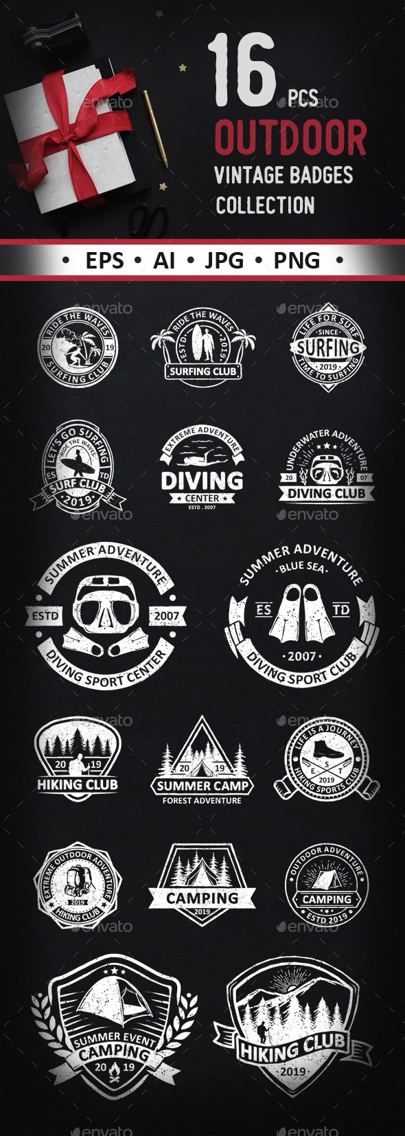 Vintage Outdoor and Adventure - Sports/Activity Conceptual