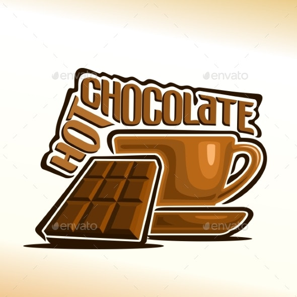Vector Logo for Hot Chocolate - Food Objects