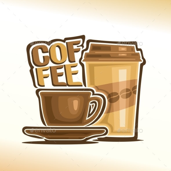 Vector Logo for Coffee - Food Objects