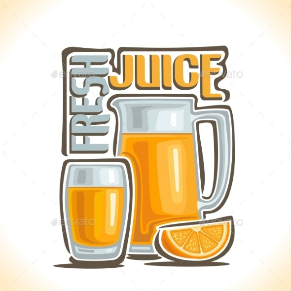 Vector Logo for Fresh Juice - Food Objects