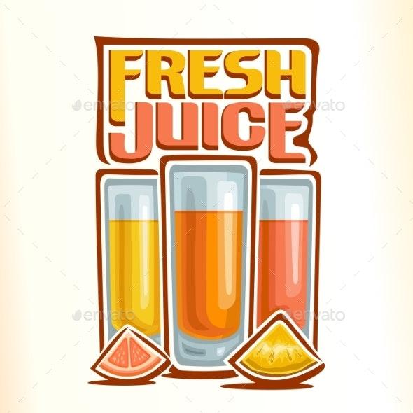 Vector Logo Fresh Juice - Food Objects