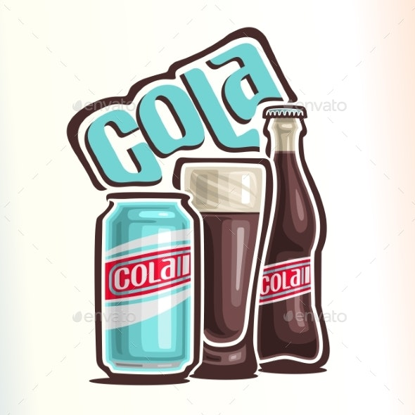 Vector Logo for Cola - Food Objects